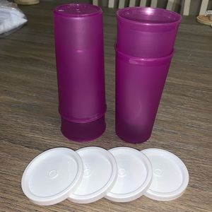 9 oz Tupperware Tumbler with lids